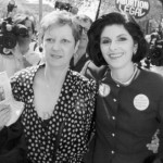 Norma McCorvey (L), who was the Jane Roe in the case, seen here with her attorney Gloria Allred (R).